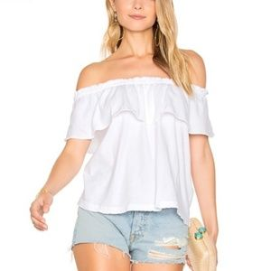 NWT Current Elliot The Ruffle Off the Shoulder Top